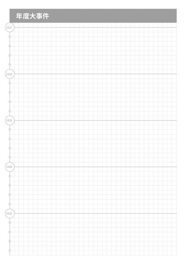 年度事件记录手帐模版